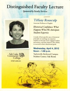 Distinguished Faculty Lecture Flyer